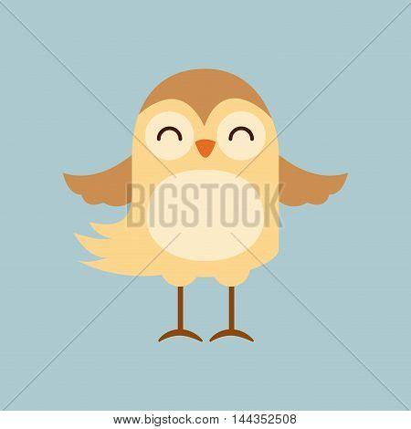 cute bird tender isolated icon vector illustration design