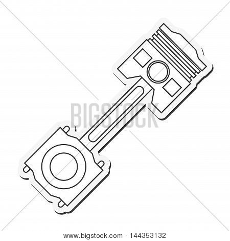 car automobile machine part icon. Flat and Isolated design. Vector illustration
