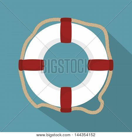 lifeguard float circle icon vector illustration graphic