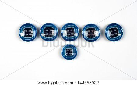 buttons. Photography Studio, texture, style, fabric,design,indigo, closeup,