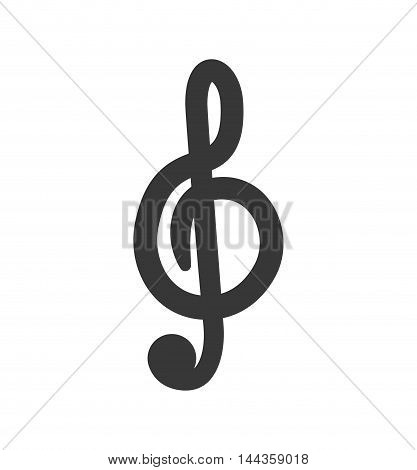music note sound silhouette icon. Isolated and flat illustration. Vector graphic