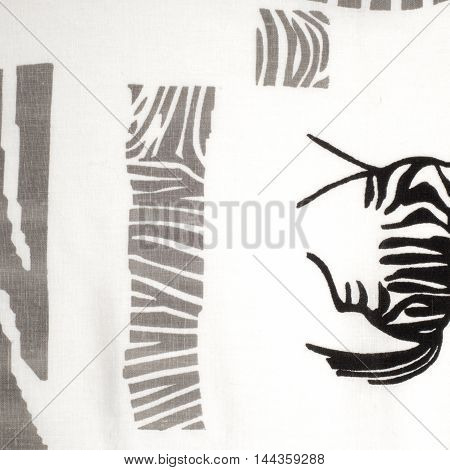 tissue textile cloth fabric material texture. zebra . cloth typically produced by weaving or knitting textile fibers.