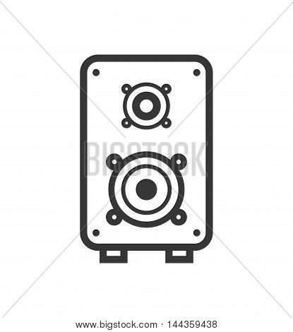 speaker music sound silhouette icon. Isolated and flat illustration. Vector graphic