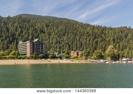 Beatiful View At Lake, Harrison Hot Springs, British Columbia, Canada