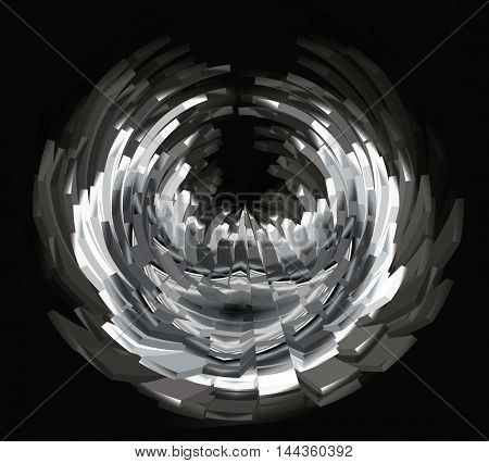 Texture, Background. Abstract Polar Coordinates