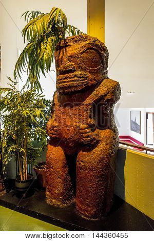 OSLO, NORWAY - JULY 1, 2016: This is one of the items brought by Thor Heyerdahl of his expeditions.