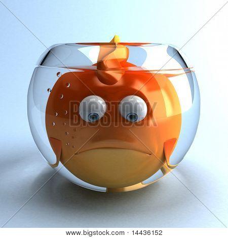 Traurig Goldfish