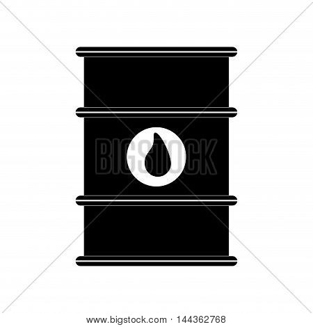 drop barrel oil industry petroleum gasoline icon. Isolated and flat illustration. Vector graphic