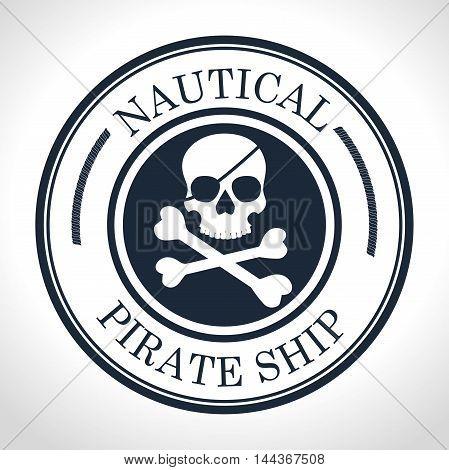 skull and bones symbol pirate vector illustration graphic