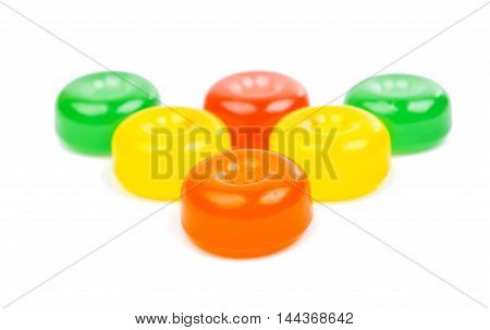 candy multi color on a white background