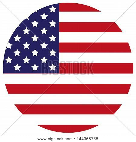 United States Flag Icon state us america button vector