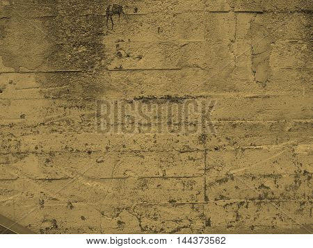 Concrete Wall Background Sepia