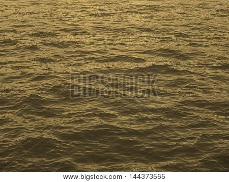 Blue Water Background Sepia