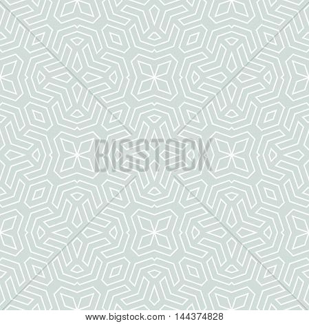 Geometric abstract background. Seamless modern ornament. Light blue and white pattern