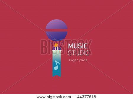 Developing creative logo for the music studio