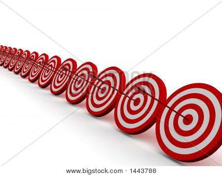 Row Red And White Target