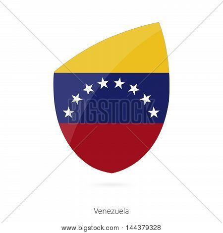 Flag Of Venezuela In The Style Of Rugby Icon.