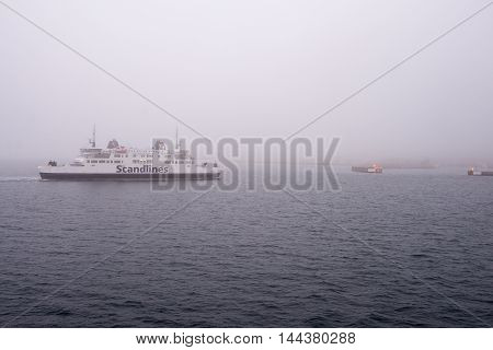 HELSINGBORG, SWEDEN - DECEMBER 30, 2014: Ferry from Helsingborg