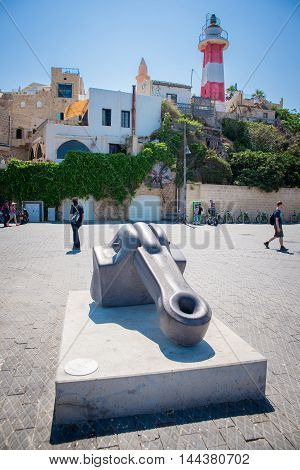 TEL AVIV, ISRAEL - JUNE 5, 2015: Jaffa - the ancient port, historical city of the Middle East, which today lies within Tel Aviv. June 5, 2015. Tel Aviv, Israel.