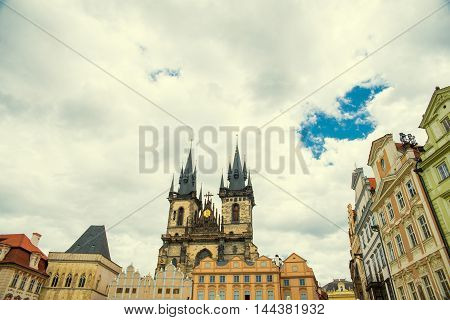 views of the old town in Prague