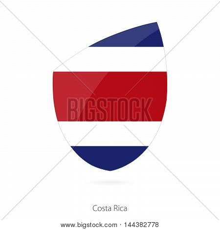 Flag Of Costa Rica In The Style Of Rugby Icon.