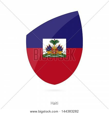 Flag of Haiti in the style of Rugby icon.. Vector Illustration.
