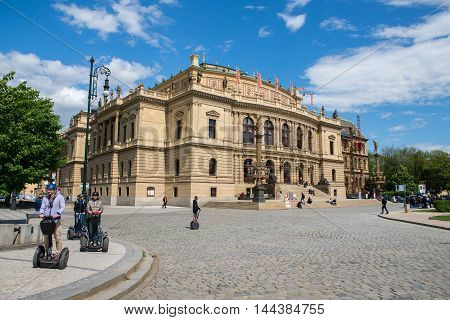 PRAGUE, CZECH REPUBLIC - MAY 6, 2015: The Rudolfinum is a music auditorium and art gallery in Prague, Czech Republic. May 6, 2015. Prague, Czech Republic.