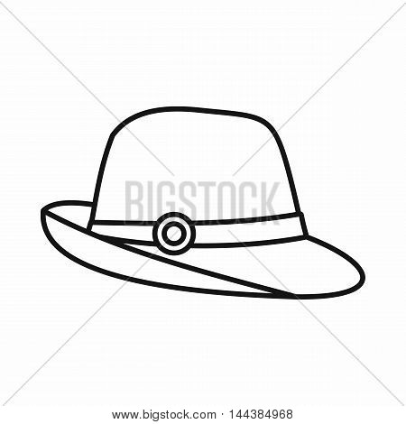 Hat icon in outline style on a white background