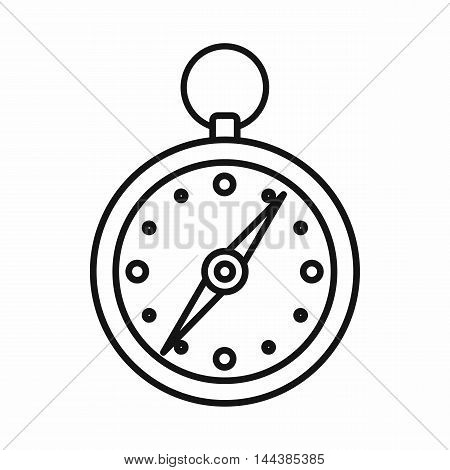 Compass icon in outline style on a white background