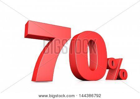 3d illustration business number 70 percent