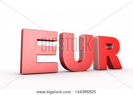 3d illustration sign eur