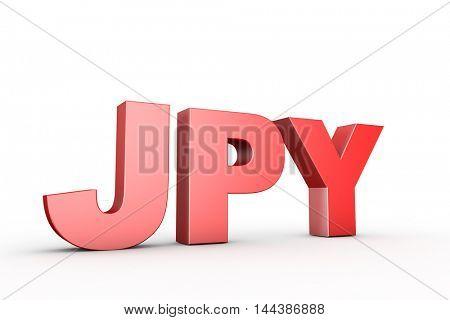 3d illustration japan yen