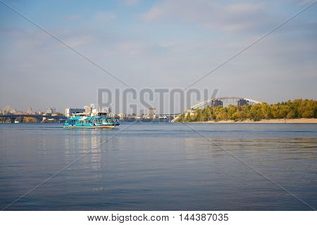 views of the Dnieper River in Kiev