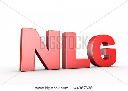 3d illustration sign nlg