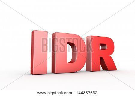 3d illustration sign idr