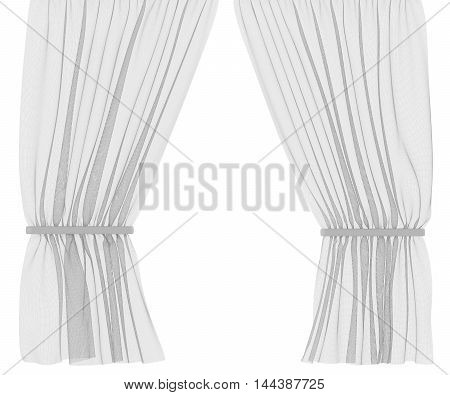 Organza Curtains Isolated