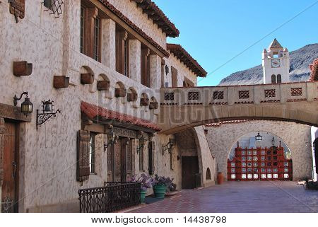 Spanish style house courtyard