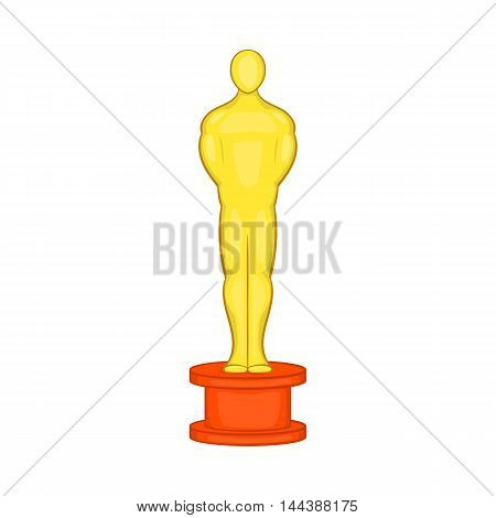 Cinema gold award icon in cartoon style isolated on white background