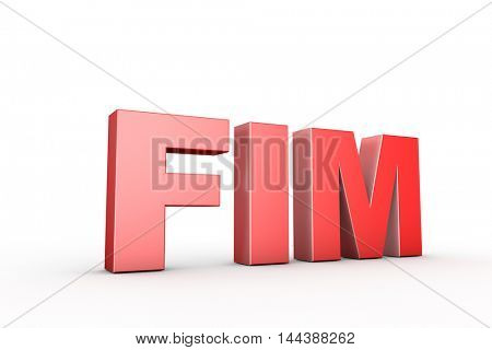 3d illustration sign fim