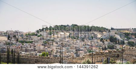 residential district in Jerusalem view from above