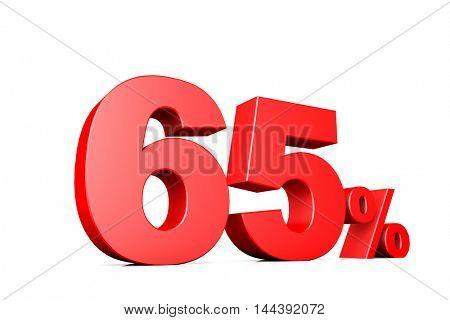 3d illustration business number 65 percent