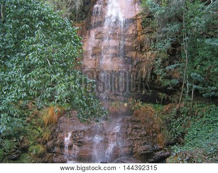 Beautiful waterfall in the riverside (Orvalho - Portugal)