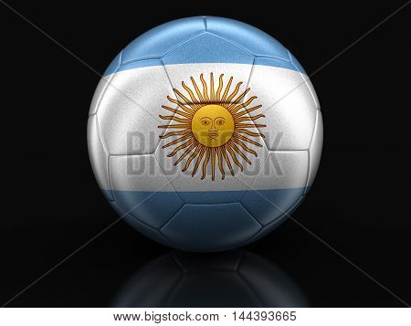 3D Illustration. folder and lists with Argentinian Flag. Image with clipping path