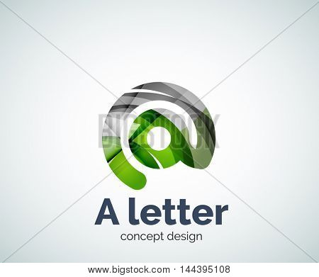 Vector A letter concept logo template, abstract business icon