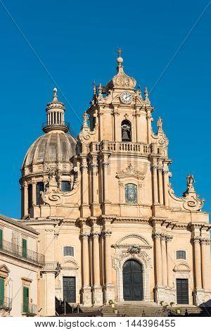 The baroque San Giorgio cathedral in Ragusa Ibla, Sicily