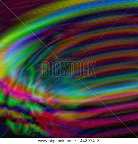 Abstract rainbow cyclone background with whirling tornado form. Amazing Dynamic glitch screen backdrop. Vector design illustration