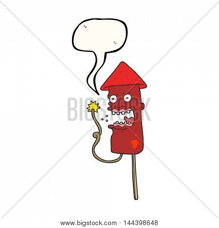 freehand drawn speech bubble cartoon screaming firework