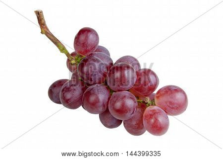 red grape on white background. objects with clipping paths.
