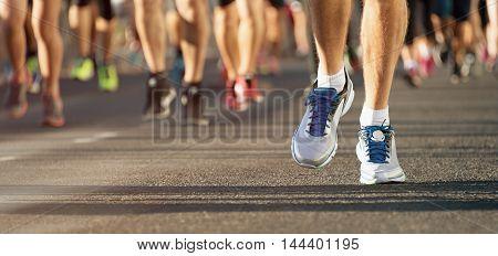 Marathon running in the light of evening