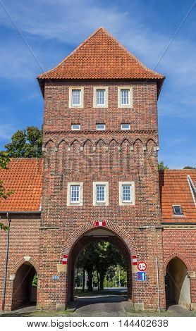 Old City Gate Walkenbruckentor In The Historical Center Of Coesfeld
